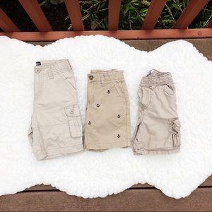 🔶Set of 3 Toddler 3T Khaki Shorts
